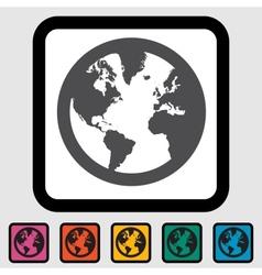 Simple world globe vector