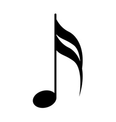 Sixteenth note musical symbol vector
