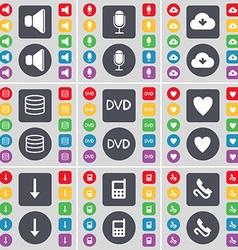Sound Microphone Cloud Database DVD Heart Arrow vector