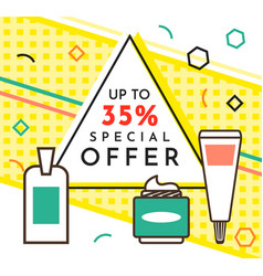 spesial offer perfume shop poster sale banner vector image