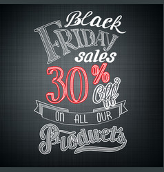 typographic black friday announcement vector image