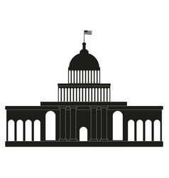 white house congress black icon on white vector image