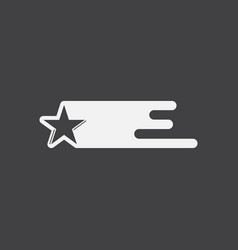 White icon on black background star in space vector