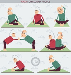 Yoga for Elderly people vector image