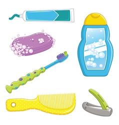 Bathroom Equipments vector image vector image