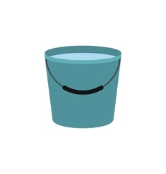 Bucket full of water icon vector image
