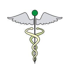 caduceus medical health care symbol vector image vector image