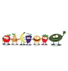 fruit hug vector image