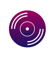 Music icon cd or vinyl music and audio sign vector