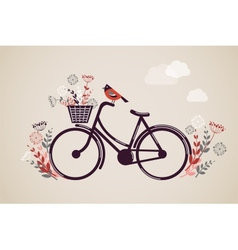 Vintage Retro Bicycle Background vector image vector image