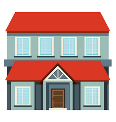 big house with red roof vector image
