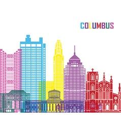 Columbus skyline pop vector image vector image