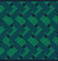 green and blue fabric style pattern background vector image