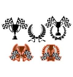 Sports emblems and symbols vector image vector image