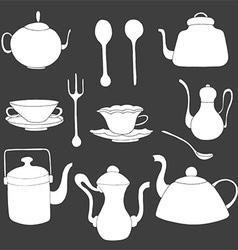 Tea Set Icons vector image