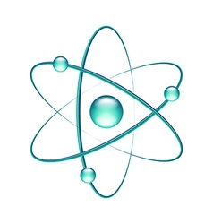 Atom isolated on white vector image