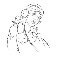 cartoon image of air force woman vector image