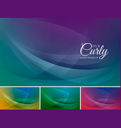 curly abstract background vector image vector image