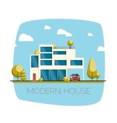 Modern house flat design vector