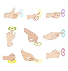set of hand gestures vector image vector image