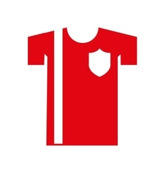 shirt uniforn team isolated icon vector image vector image
