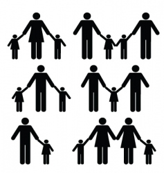 alternative family vector image