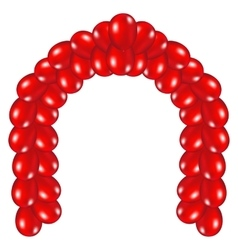 Arch of red balloons vector
