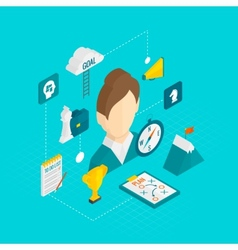 Coaching Business Isometric Icon vector image vector image