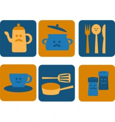 eating and dining vector image vector image
