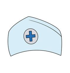 hat nurse accessory uniform medical vector image