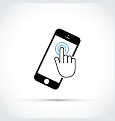 mobile phone touch screen vector image vector image