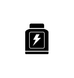 sport nutrition modern flat icon vector image