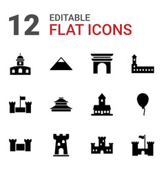 12 history icons vector