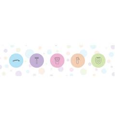 5 razor icons vector