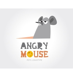 Abstract mouse logo template for branding vector image