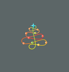 Abstract new year tree logo icon design modern vector