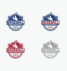 baseball5 vector image