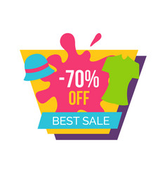 Best sale with 70 off for female clothes emblem vector