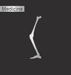 Black and white style icon of leg bone vector