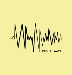 black pulse music player audio wave logo vector image