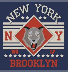 Brooklyn ny wolf vector