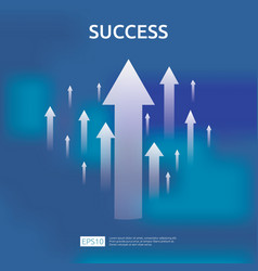 Business growth arrows to success concept return vector