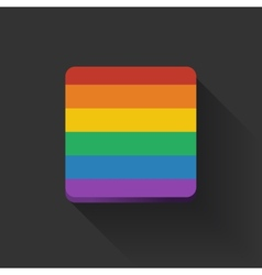 Button with rainbow flag vector image