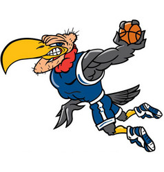 Buzzard basketball logo mascot vector