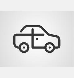 car icon sign symbol vector image