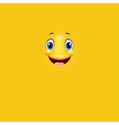 Cartoon cute yellow face smiling vector