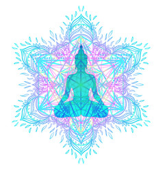 Chakra concept inner love light and peace vector
