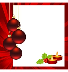 Christmas abstract red vector