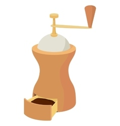 Coffee grinder icon cartoon style vector