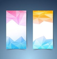 Crystal pattern vertical flyer template set vector